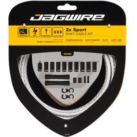 Jagwire 2X Sport Shift Schaltzugset braided white